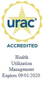 URAC Accredition expires on 09/01/2020